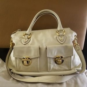 Marc Jacobs Cream Carla Bag Large Size Pre-owned